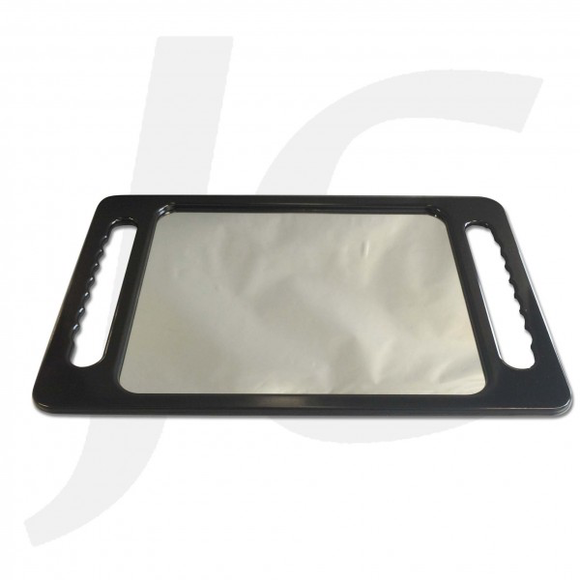 Rectangular Plastic Hand Mirror Black J24RPH