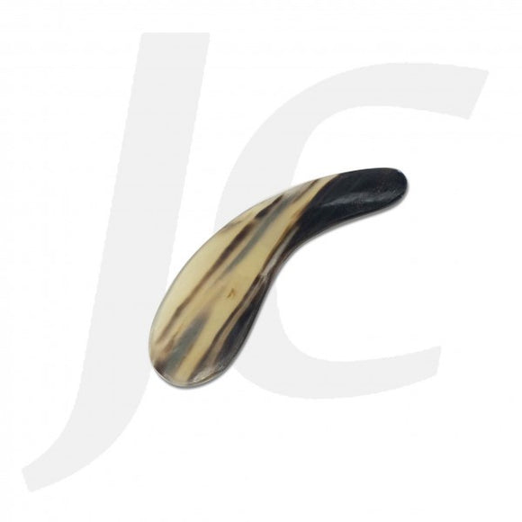 Ox Horn Scraping Piece Curl Black Yellow 35x100mm J53XBY