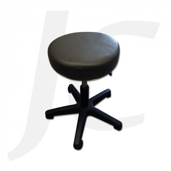 Stool On Wheel Black Soft 801 J34SSB