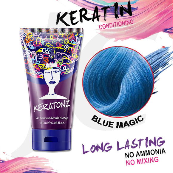 KERATONZ Semi-Permanent Hair Color Blue Magic 180ml J11KBM