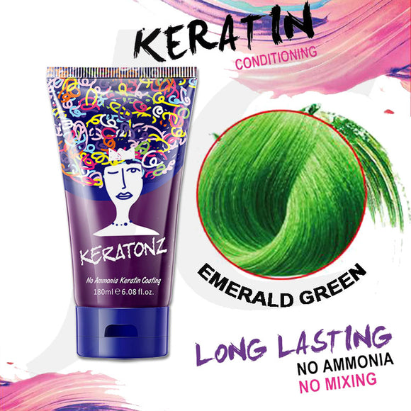 KERATONZ Semi-Permanent Hair Color Emerald Green 180ml J11KEG