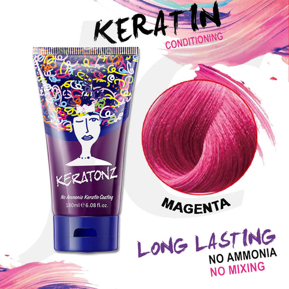 KERATONZ Semi-Permanent Hair Color Magenta 180ml J11KMG