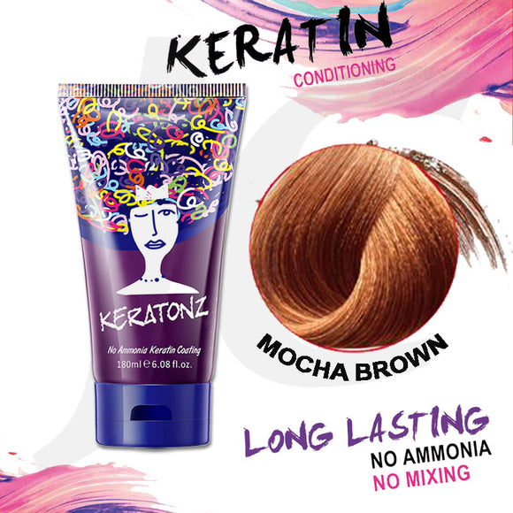 KERATONZ Semi-Permanent Hair Color Mocha Brown 180ml J11KMB