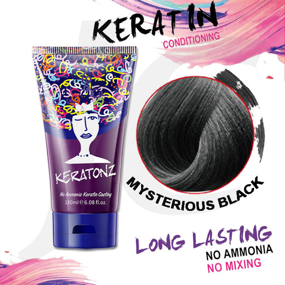 KERATONZ Semi-Permanent Hair Color Mysterious Black 180ml J11KMY