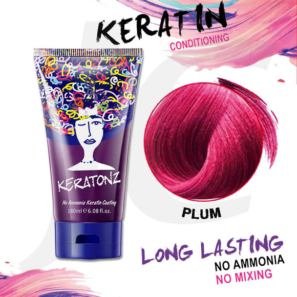 KERATONZ Semi-Permanent Hair Color Plum 180ml J11KPU