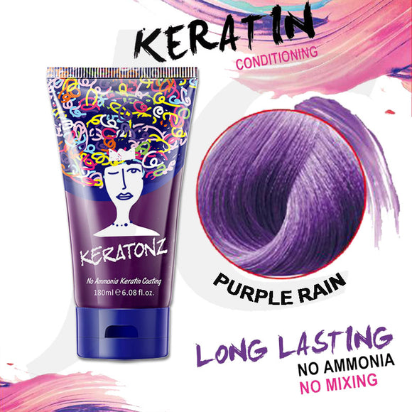 KERATONZ Semi-Permanent Hair Color Purple Rain 180ml J11KPR