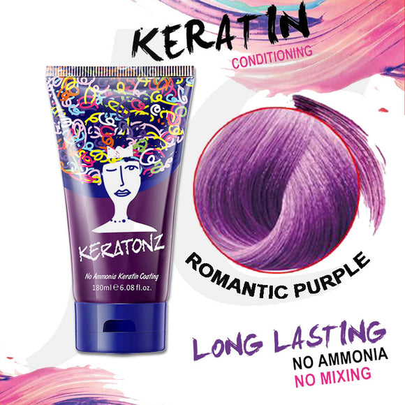 KERATONZ Semi-Permanent Hair Color Romantic Purple 180ml J11KRP