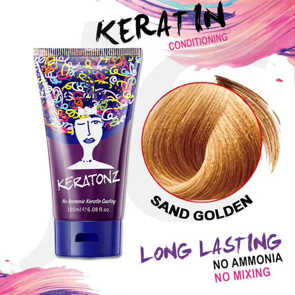 KERATONZ Semi-Permanent Hair Color Sand Golden 180ml J11KSG