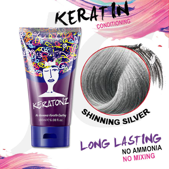 KERATONZ Semi-Permanent Hair Color Shinning Silver 180ml J11KSS