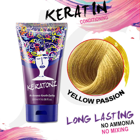KERATONZ Semi-Permanent Hair Color Yellow Passion 180ml J11KYP