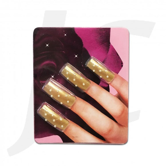 Nail Tip 3D-art Gold 10pcs