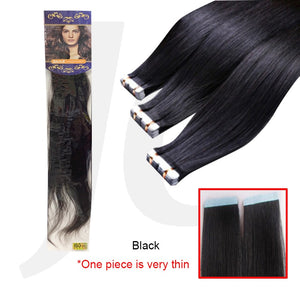 Stick In Tape In Hair Extension Real Hair Black 1pc J17SIB