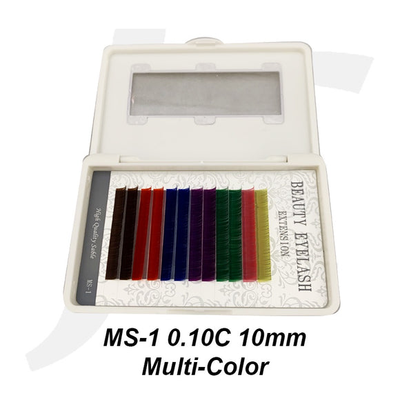 Beauty Eyelash Extension MS-1 0.10C 10mm Multi-Color J71MC10