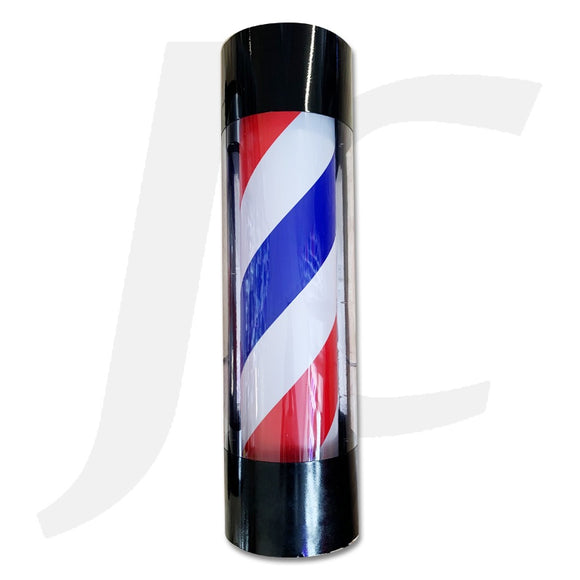 Barber Pole Small Half Round Black 60cm J35BHR