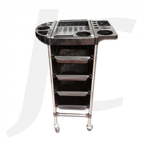 Hair Trolley Black Plastic With Steel Frame HM318 S31-B J34H38
