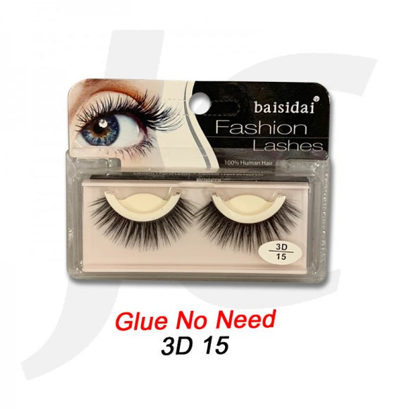 Baisidai Whole EyeLash No Need Glue 15 J72N15