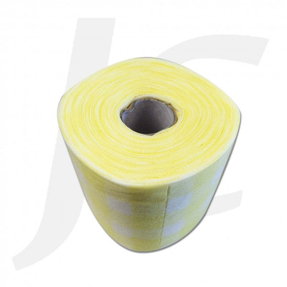 Disposable Facial Wipe Towel Roll Yellow Pattern J314FWR