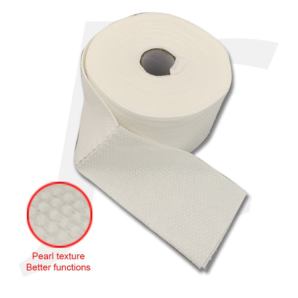 Disposable Facial Wipe Towel Roll White Cotton Pearl Texture