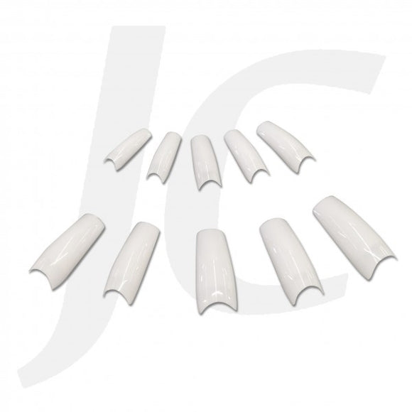NAIL TIP PACK Half-stick Round-end White 500pcs