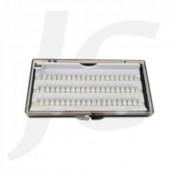 Semi Eyelash White Box 8mm J71 WX18