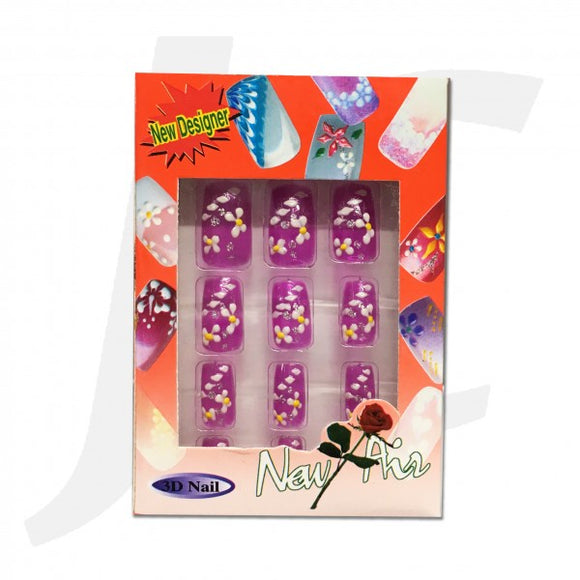 Nail Tip 3D-art Purple 10pcs