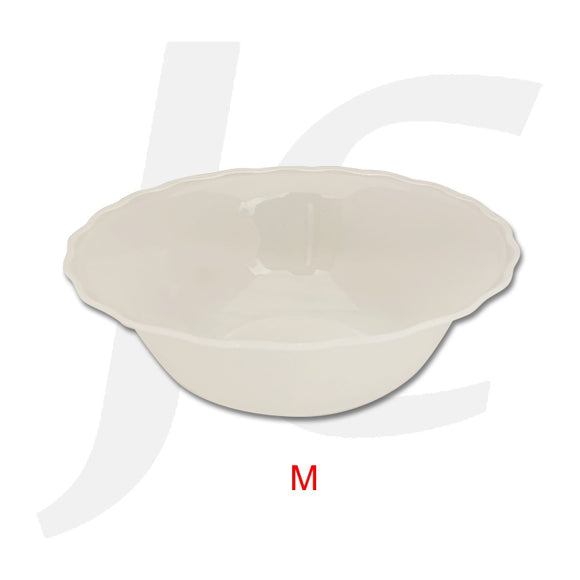 Plastic Medium Bowl Wave Edge Clear J64PMW