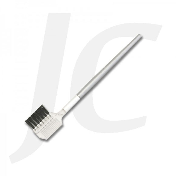 Single Eyebrow Brush Silver Handle 1PC J61DLE