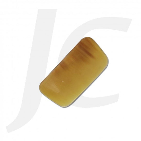 Ox Horn Scraping Piece Square Yellow 45x80mm J53OHS