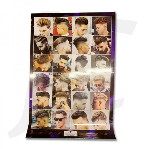 Barbershop Men's Haircuts Poster OB1 J36BMP