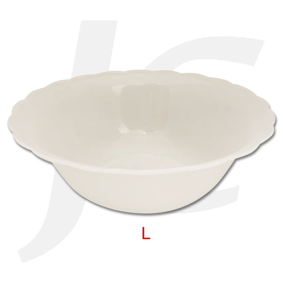 Plastic Large Bowl Wave Edge Clear J64PLW