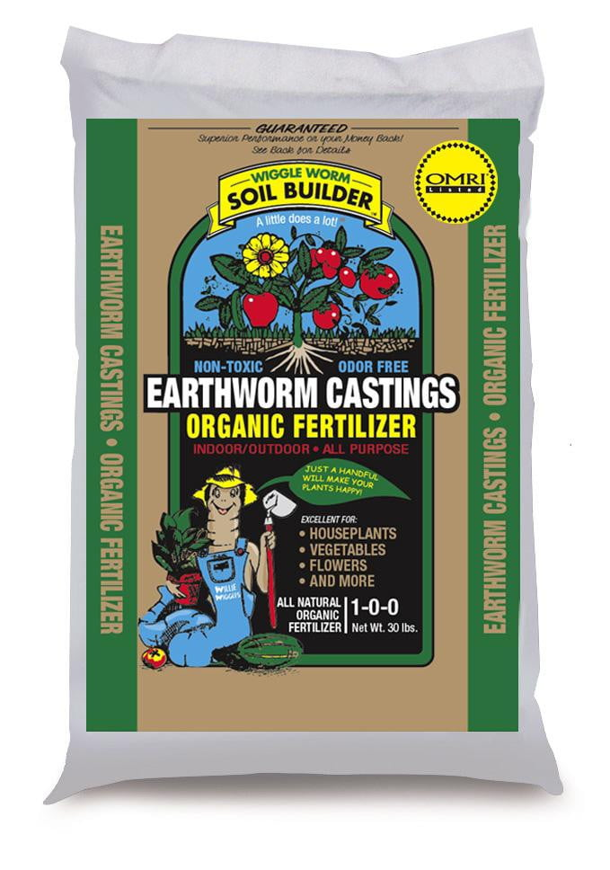 Unco Industries Wiggle Worm Earthworm Castings (30lb)