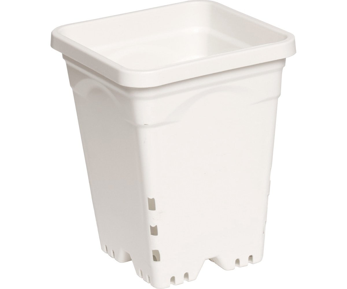 "Active Aqua 7"" x 7"" Square White Pot, 9"" Tall, case of 50"