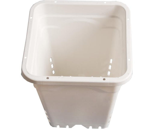 "Active Aqua Square White Pot (12"" x 12"" x 12"")"