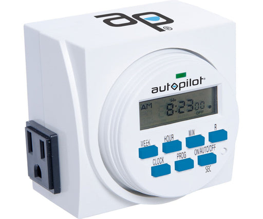 Autopilot Dual Outlet 7-Day Grounded Digital Programmable Timer