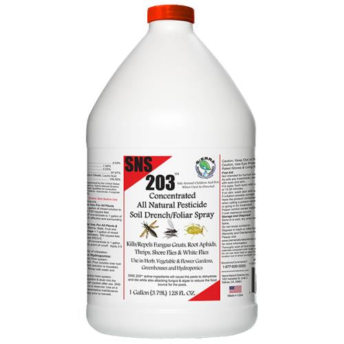SNS 203 Conc. Pesticide Soil Drench/Foliar Spray Gallon