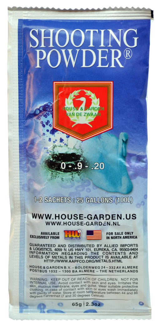 House & Garden Shooting Powder® 0 - 0.9 - 0.2