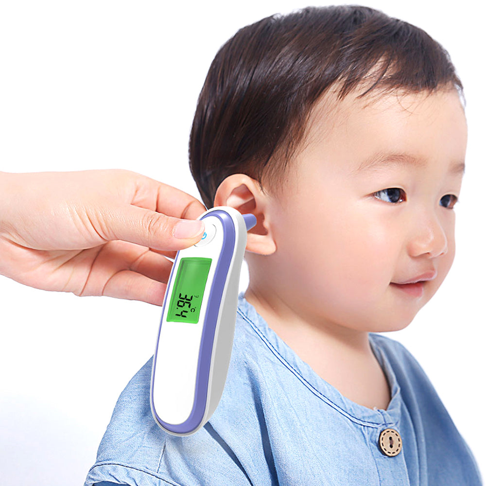 Medical Finger Ear Multidirectional Pulse Oximeter Thermometer With 12 Groups of Memory