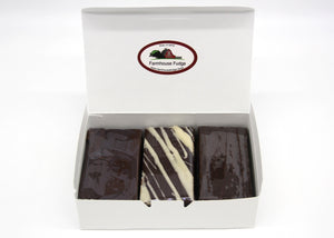 Dark Chocolate Lovers Assorted Homemade Fudge Box 1 1/2 lbs Fudge Sampler