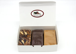 Peanut Butter Lovers Assorted Fudge Box 1 1/2 lbs
