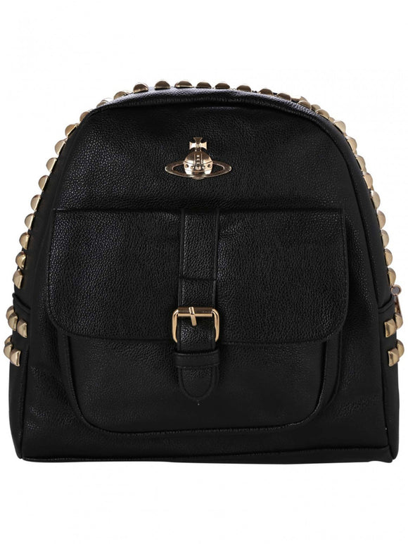 Black Studded Back Pack