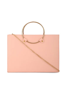 Pink Metal Ring Bag