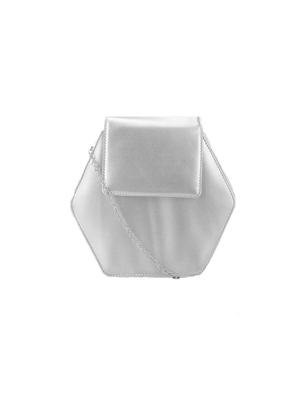 Silver Hexagon Bag