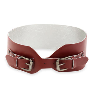 Maroon Criss Cross Belt