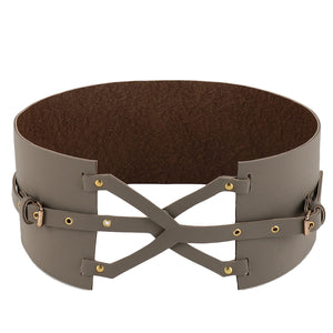 Grey Cross Over Belt