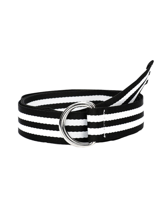 Monochrome Striped Belt