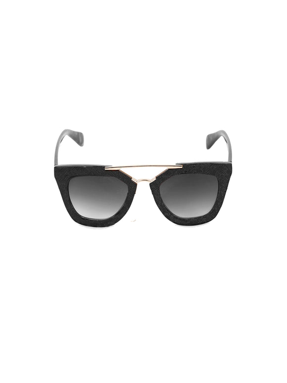 Iconic Bridge Sunglasses-Black