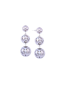Disco Ball Silver Earrings