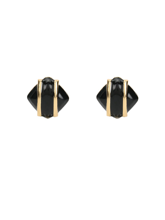Basic Black Stud  Earrings