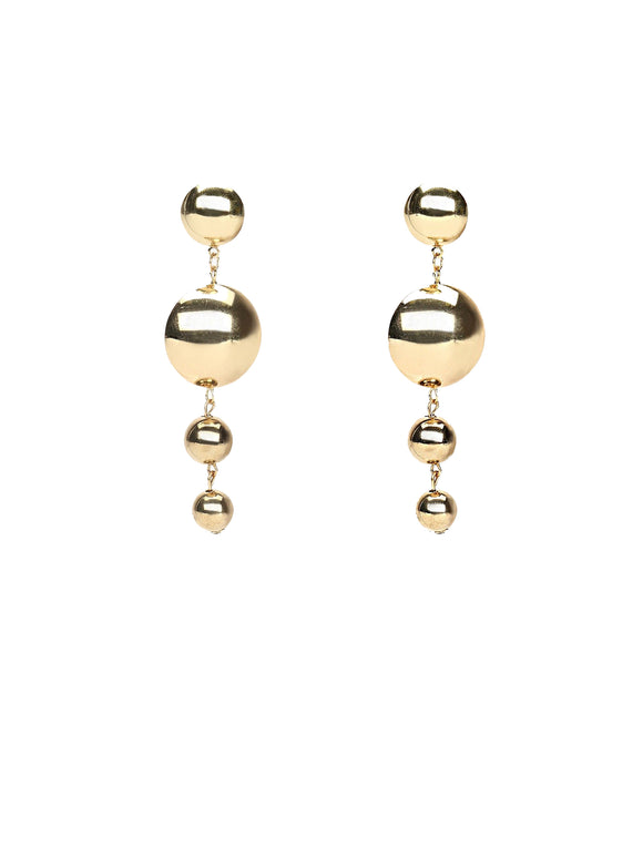 Gold Dribble Earrings