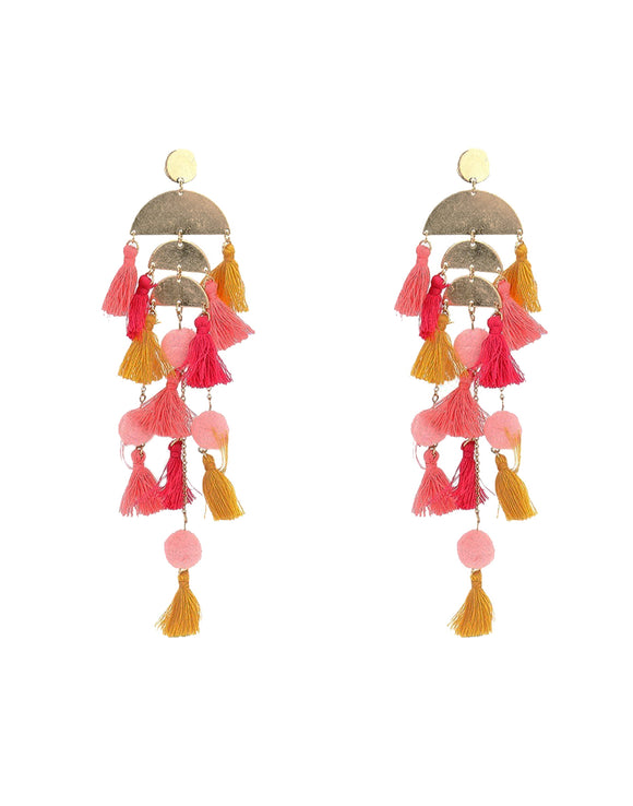 Vibrant Tassel Earrings